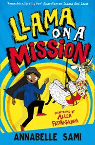 Cover of llama on a mission by annabelle sami